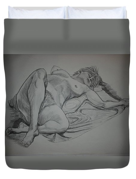Reclining Female Nude Duvet Cover