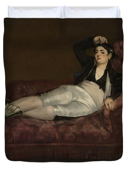 Reclining Young Woman In Spanish Painting By Edouard Manet-4709
