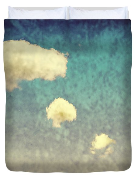 Recycled Clouds Duvet Cover by Amanda Elwell