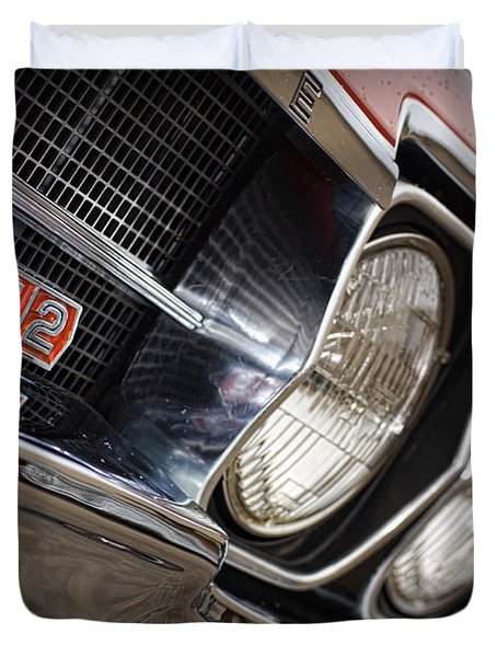 Red 1966 Olds 442  Duvet Cover by Gordon Dean II