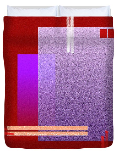 Red Abstract 2 Duvet Cover by Anil Nene
