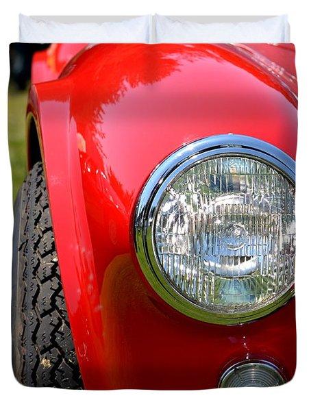 Red Ac Cobra Duvet Cover by Dean Ferreira