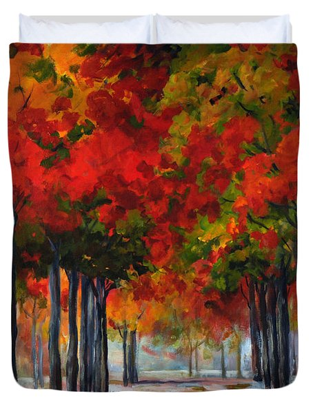 Red Alley II Duvet Cover