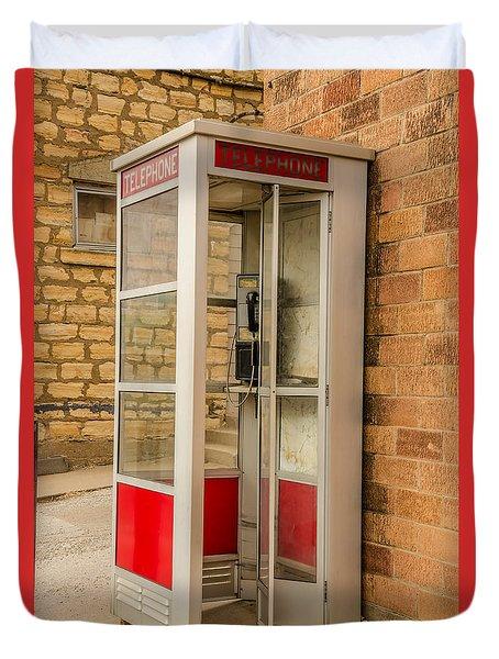 Before Cell Phones Duvet Cover