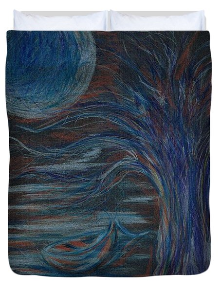 Red At Midnight Duvet Cover
