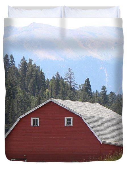 Barn - Pikes Peak Burgess Res Divide Co Duvet Cover