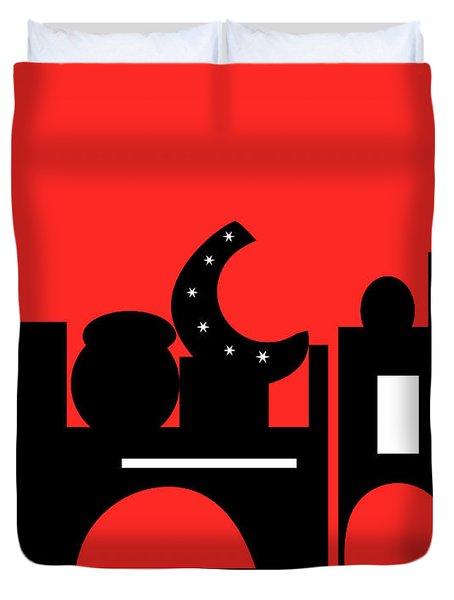 Red Bazaar Duvet Cover