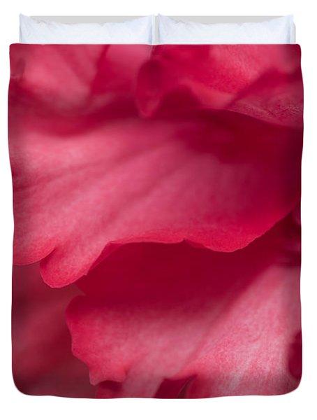 Red Begonia Petals Duvet Cover by Priya Ghose
