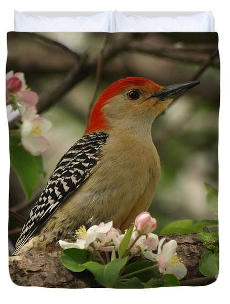 Duvet Cover featuring the photograph Red-bellied Woodpecker by James Peterson
