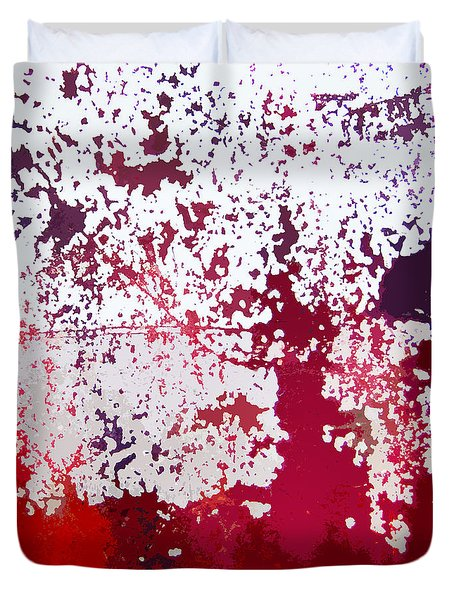 Duvet Cover featuring the photograph Red Boat Abstract by Art Block Collections