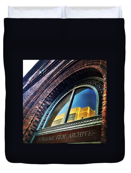 Red Brick Reflection Duvet Cover by Natasha Marco