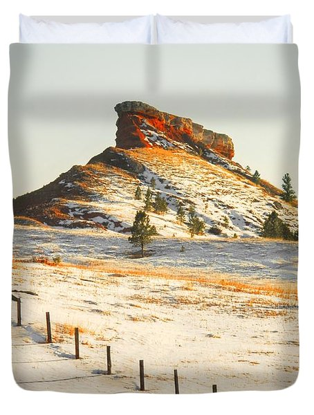 Duvet Cover featuring the photograph Red Butte by Anthony Wilkening