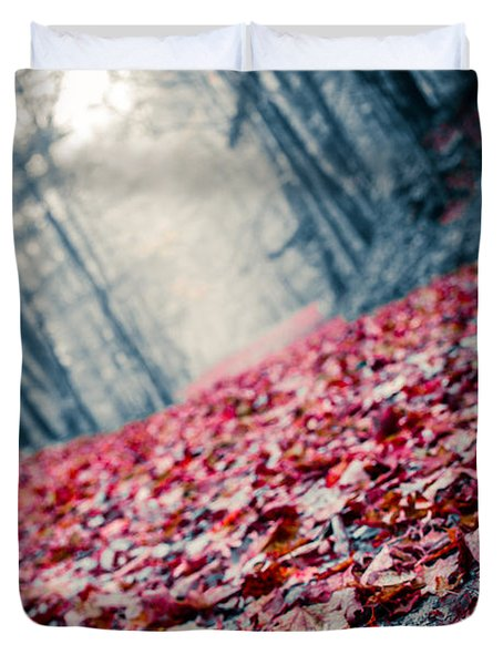 Red Carpet Duvet Cover by Edward Fielding