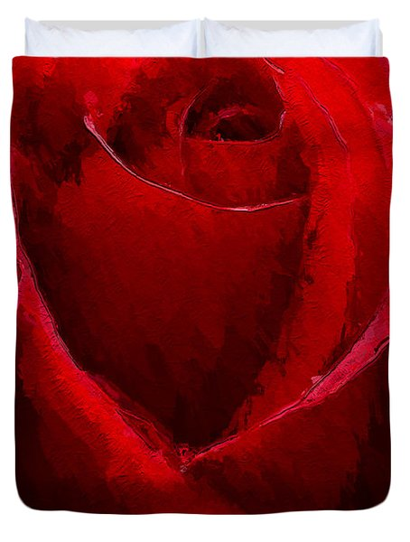 Duvet Cover featuring the digital art Red Charmer by Anthony Fishburne
