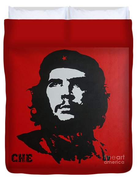Red Che Duvet Cover by ID Goodall