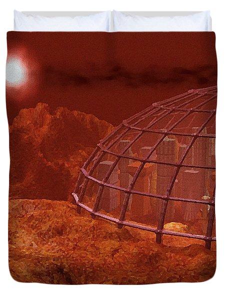 Red City Duvet Cover by Anastasiya Malakhova