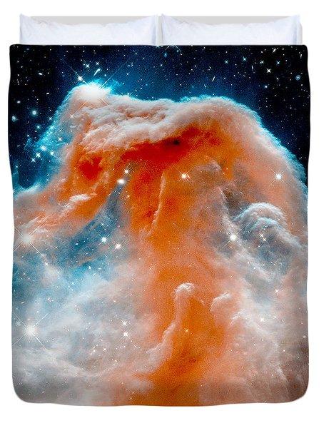 Red Cloud Walker Duvet Cover