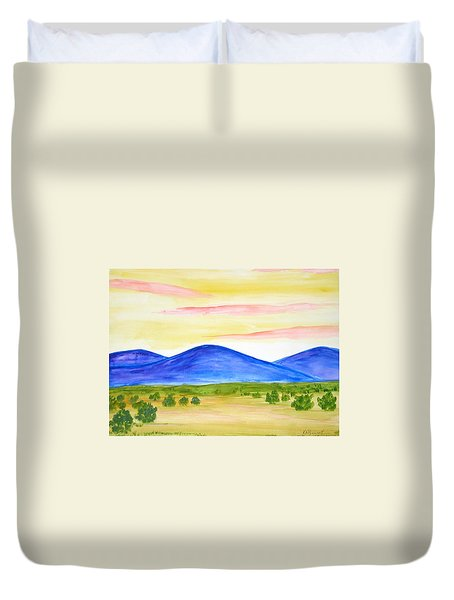 Red Clouds Over Mountains Duvet Cover