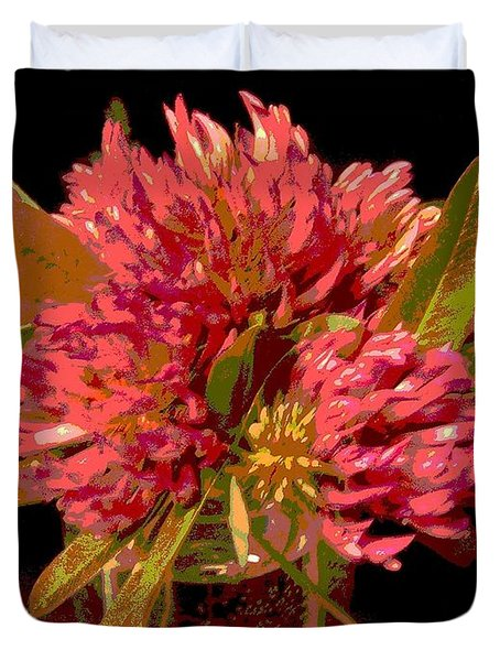 Red Clover 1 Duvet Cover