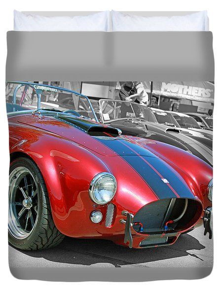 Duvet Cover featuring the photograph Red Cobra by Shoal Hollingsworth