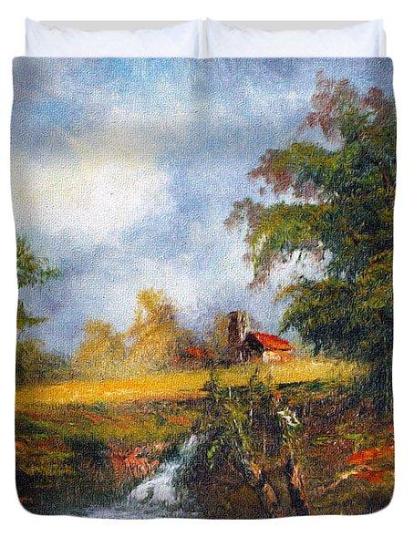 Red Cottage Duvet Cover
