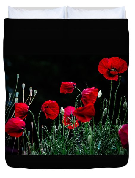 Duvet Cover featuring the photograph Red Dance by Edgar Laureano