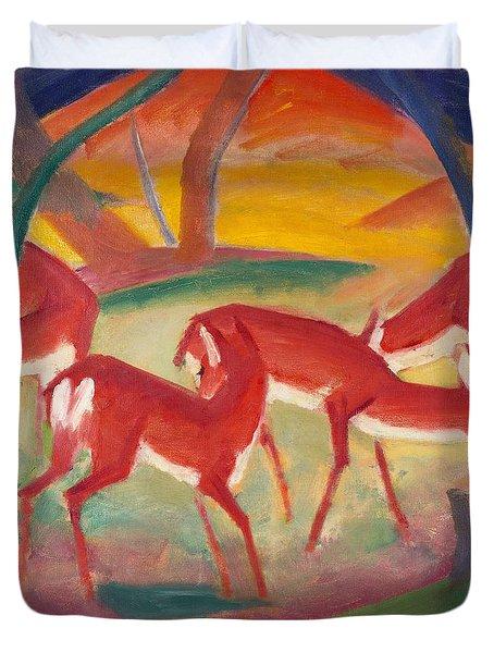 Red Deer 1 Duvet Cover by Franz Marc