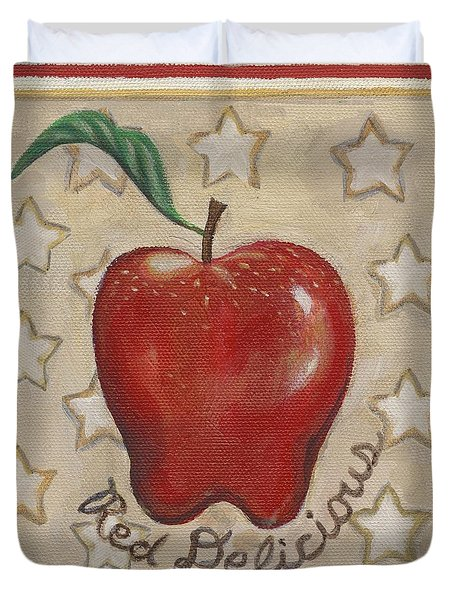 Red Delicious Two Duvet Cover by Linda Mears