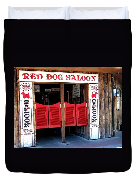 Red Dog Saloon Juneau Duvet Cover