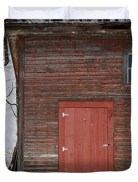 Red Door Red Barn Duvet Cover