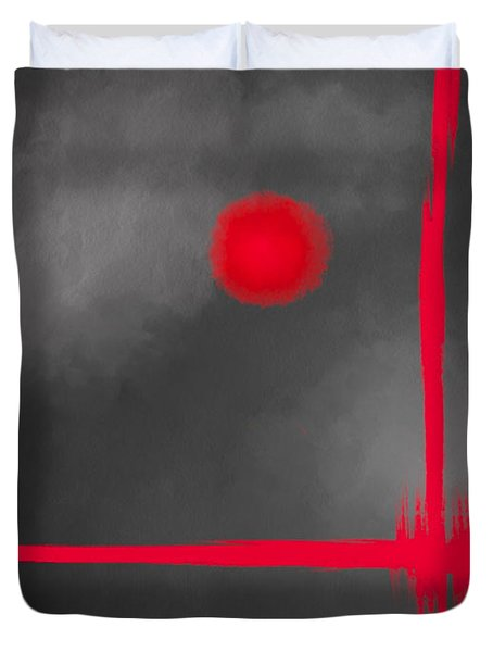 Red Dot Duvet Cover by Anita Lewis