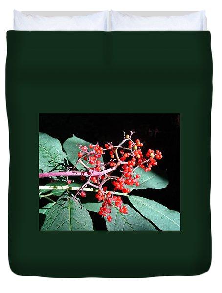 Red Elderberry Duvet Cover
