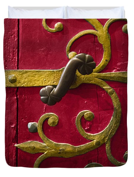Red Entrance Duvet Cover
