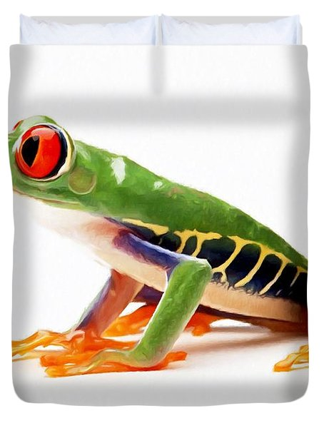 Red-eye Tree Frog 4 Duvet Cover by Lanjee Chee