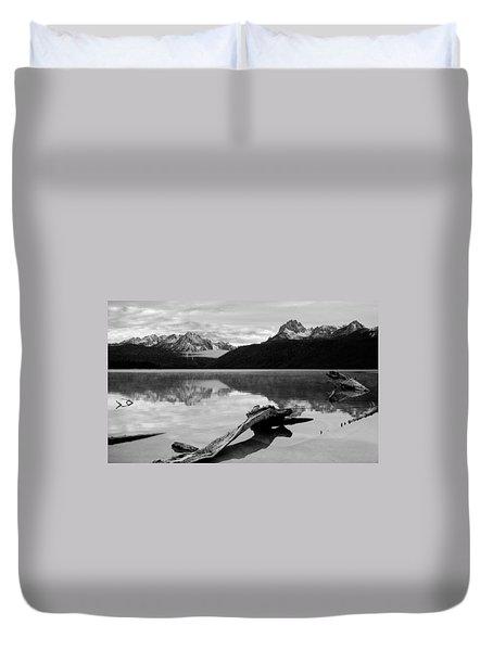 Red Fish Lake Idaho Duvet Cover