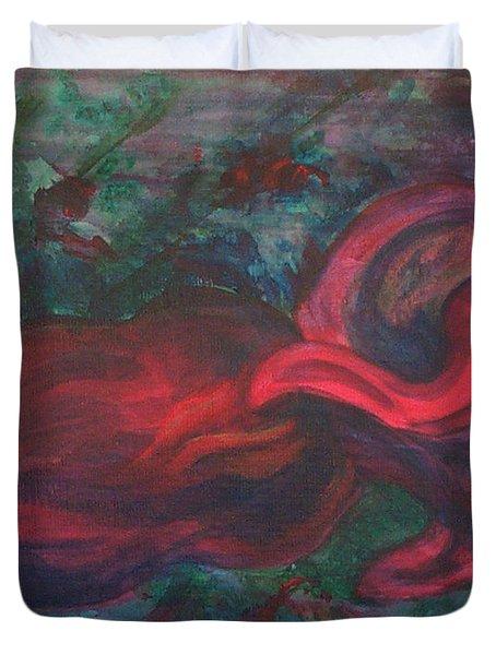 Red Fish Duvet Cover by Sheri Lauren Schmidt