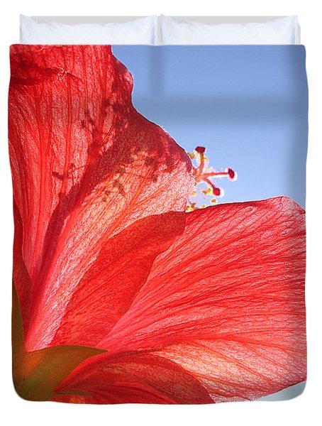 Red Flower In The Sun By Jan Marvin Studios Duvet Cover