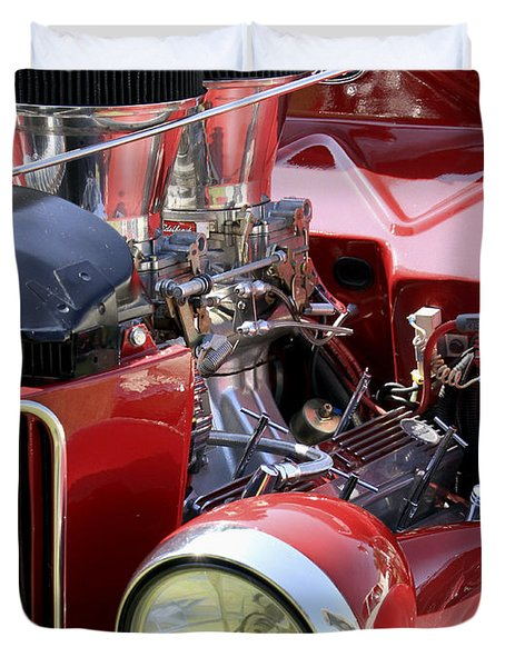 Red Ford Duvet Cover