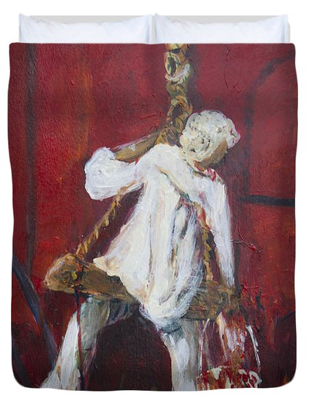 Duvet Cover featuring the painting Red Fort Painter  by Avonelle Kelsey