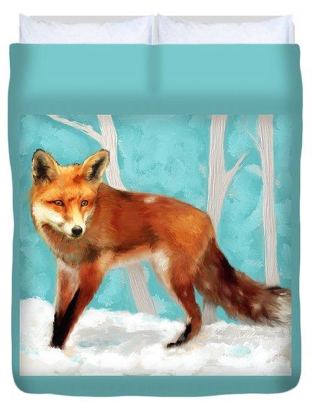 Red Fox Duvet Cover by Enzie Shahmiri