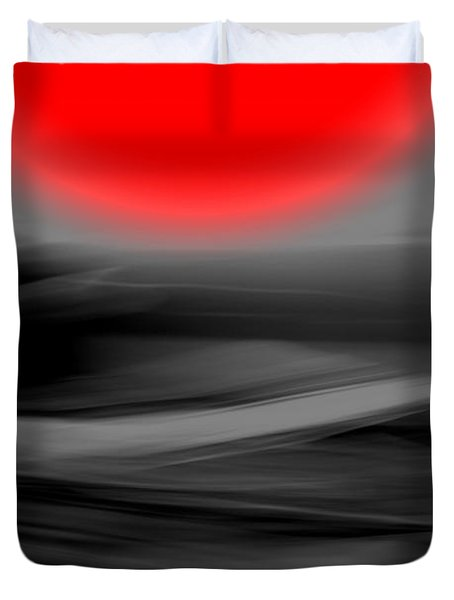 Red Giant Duvet Cover by Terence Morrissey