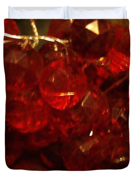 Red Glass Grapes Duvet Cover