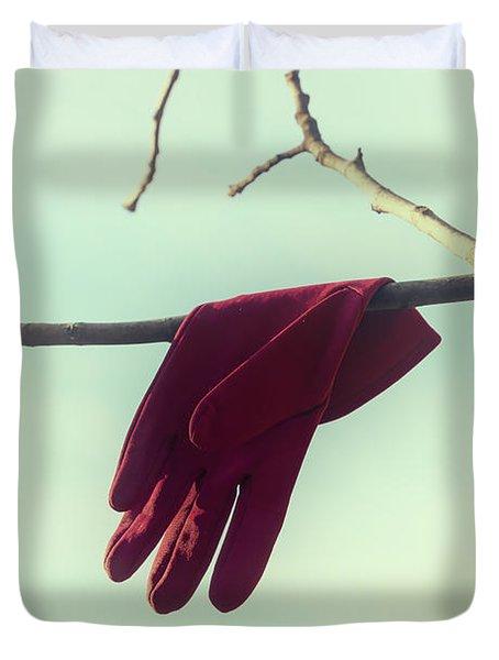 Red Glove Duvet Cover by Joana Kruse