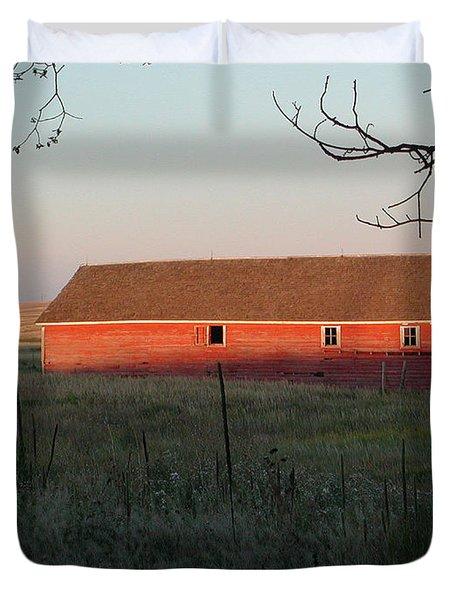 Red Granary Barn Duvet Cover