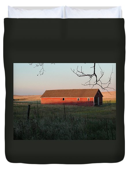 Red Granary Barn Duvet Cover