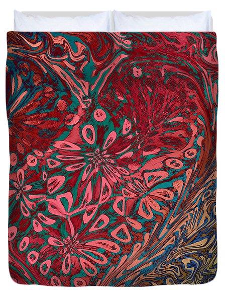 Red Heart Duvet Cover