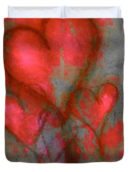 Red Hearts Duvet Cover