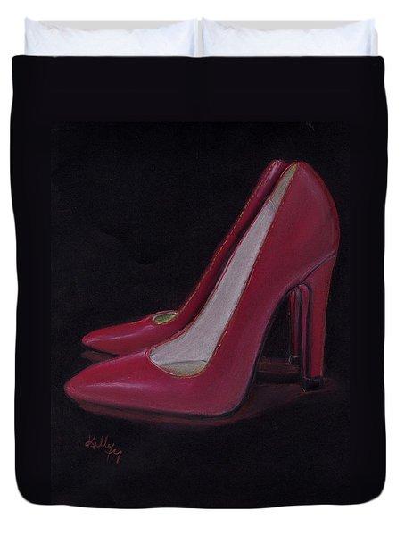 Red Heels Duvet Cover