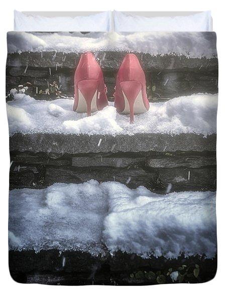Red High Heels Duvet Cover by Joana Kruse