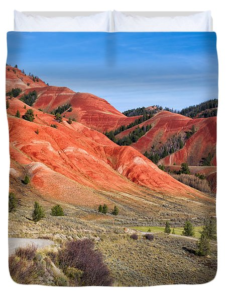 Red Hills Of The Gros Ventre Duvet Cover